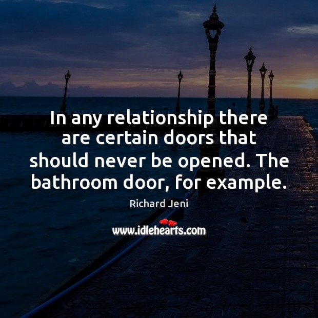 Image, In any relationship there are certain doors that should never be opened.