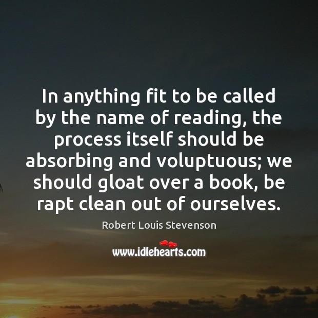 In anything fit to be called by the name of reading, the Image