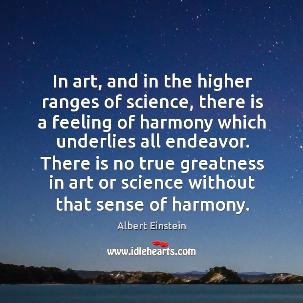 In art, and in the higher ranges of science, there is a Image