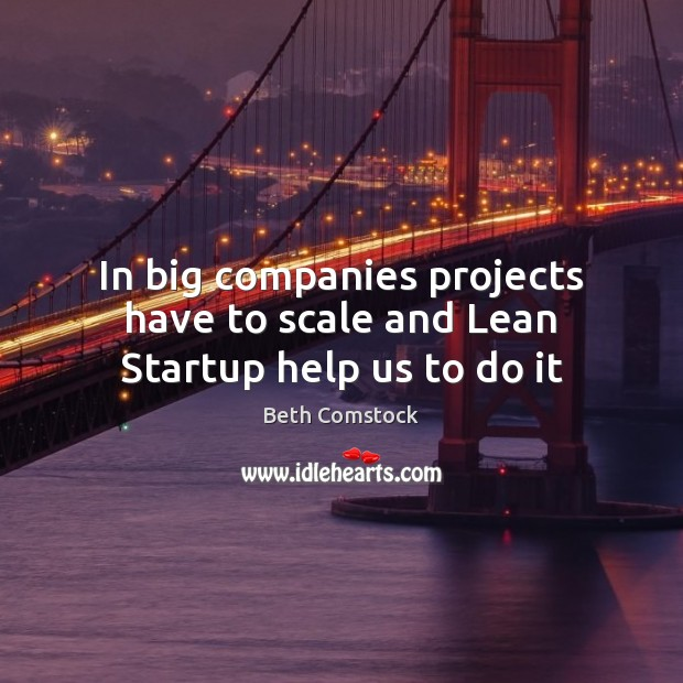 Image, In big companies projects have to scale and Lean Startup help us to do it