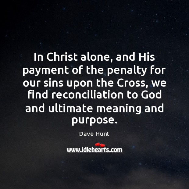 Image, In Christ alone, and His payment of the penalty for our sins