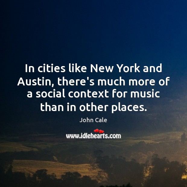 In cities like New York and Austin, there's much more of a Image