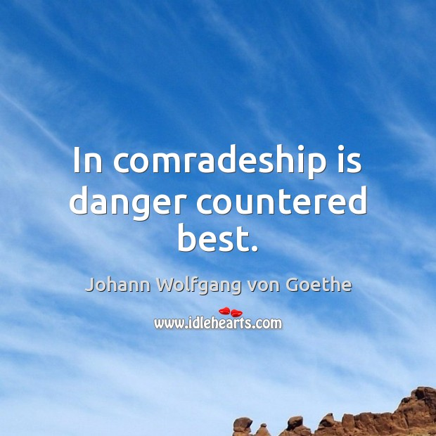 In comradeship is danger countered best. Image