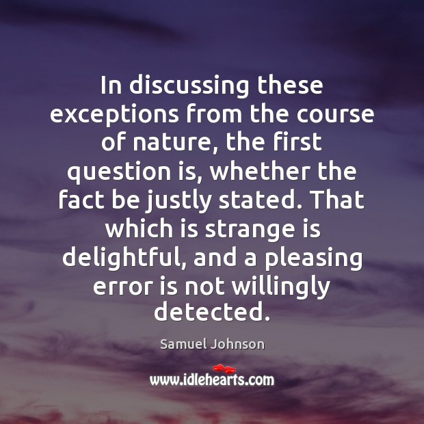Image, In discussing these exceptions from the course of nature, the first question
