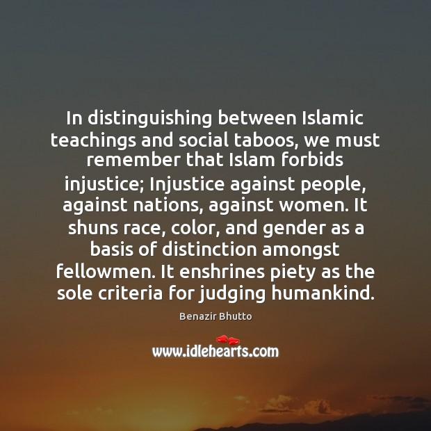 Image, In distinguishing between Islamic teachings and social taboos, we must remember that