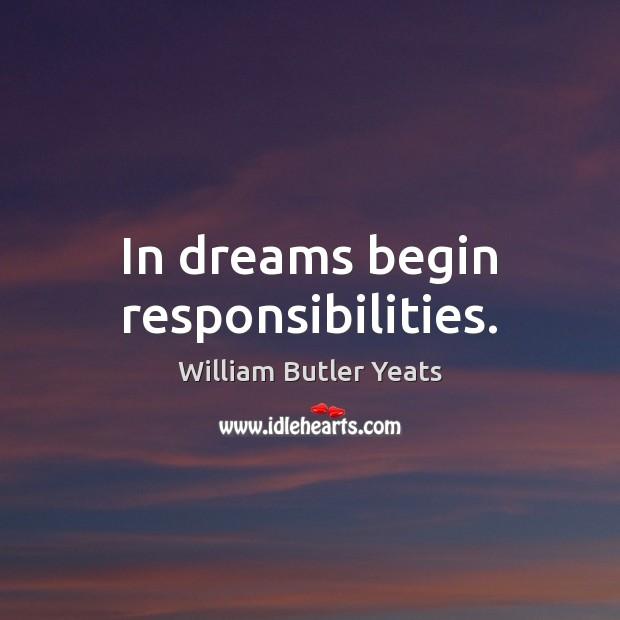 In dreams begin responsibilities. Image
