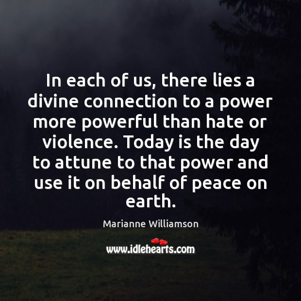 Image, In each of us, there lies a divine connection to a power
