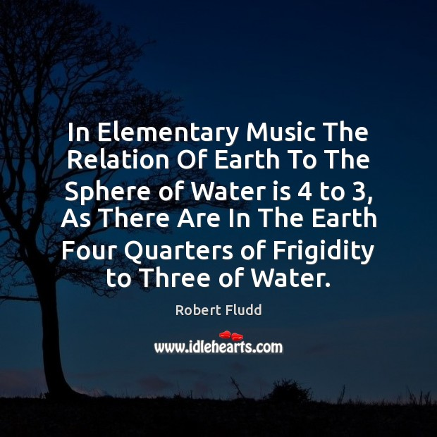 In Elementary Music The Relation Of Earth To The Sphere of Water Image
