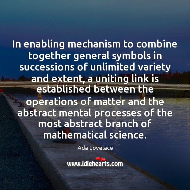 Image, In enabling mechanism to combine together general symbols in successions of unlimited
