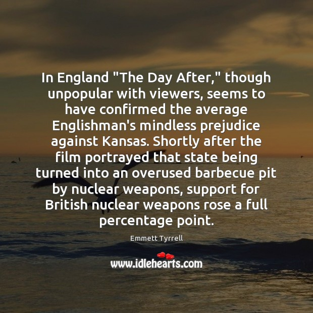 """In England """"The Day After,"""" though unpopular with viewers, seems to have Image"""