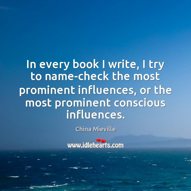 Image, In every book I write, I try to name-check the most prominent