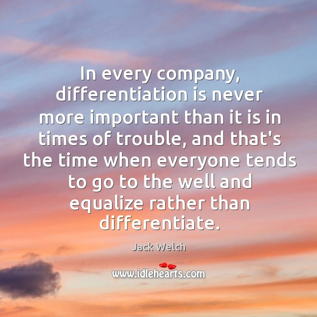 Image, In every company, differentiation is never more important than it is in