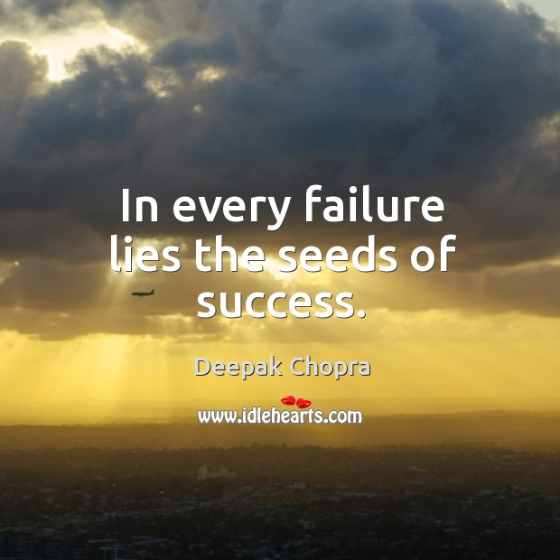 Image, In every failure lies the seeds of success.