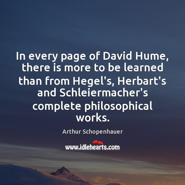 In every page of David Hume, there is more to be learned Image