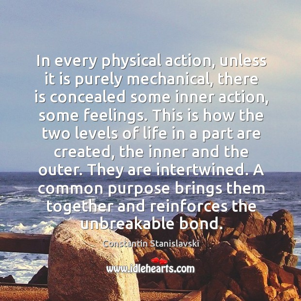 In every physical action, unless it is purely mechanical, there is concealed Image
