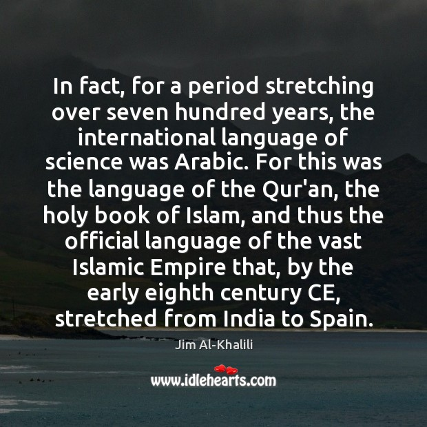 Image, In fact, for a period stretching over seven hundred years, the international