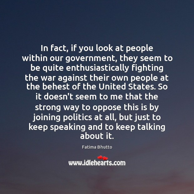 Image, In fact, if you look at people within our government, they seem