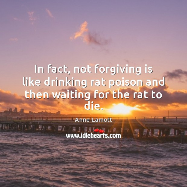 Image, In fact, not forgiving is like drinking rat poison and then waiting for the rat to die.
