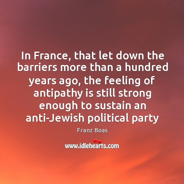 In France, that let down the barriers more than a hundred years Image