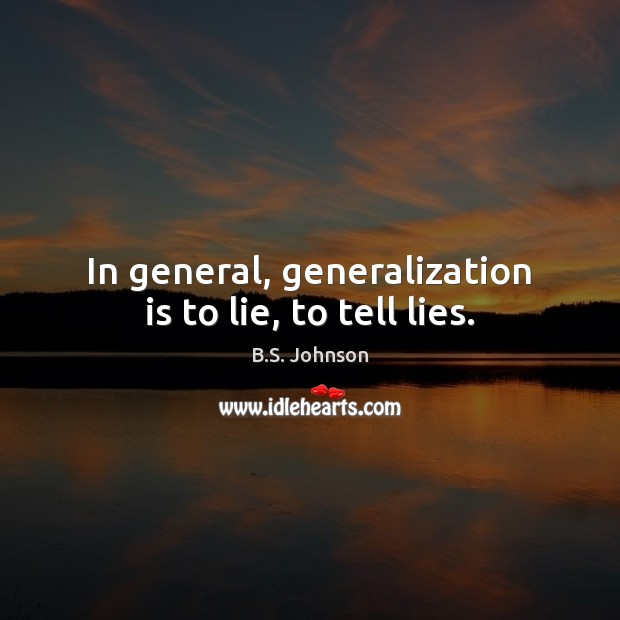 Image, In general, generalization is to lie, to tell lies.