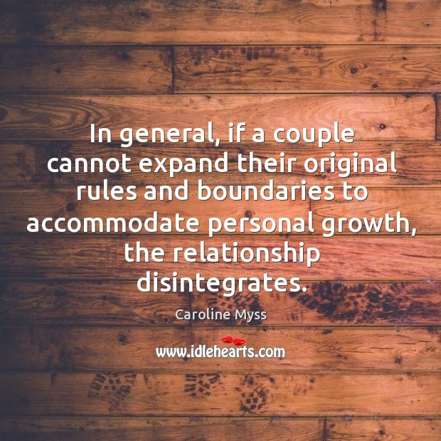 In general, if a couple cannot expand their original rules and boundaries Image