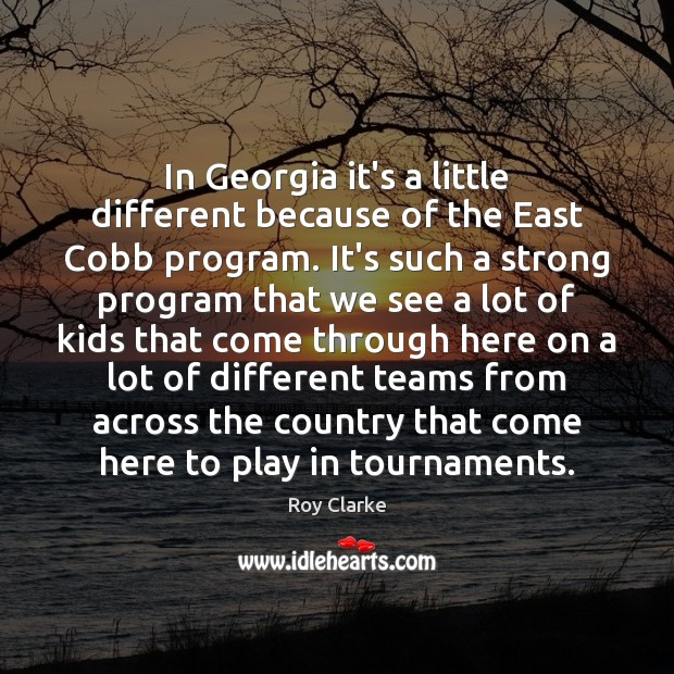 In Georgia it's a little different because of the East Cobb program. Image