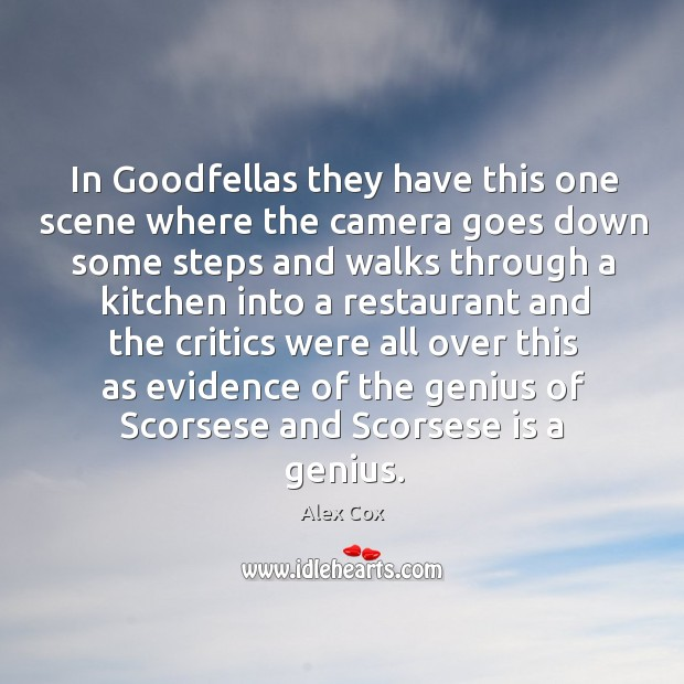Image, In goodfellas they have this one scene where the camera goes down some steps and walks through
