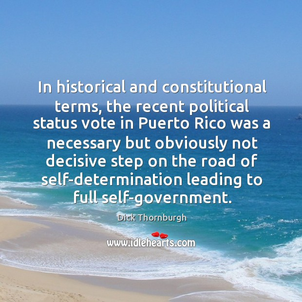 In historical and constitutional terms, the recent political status vote in puerto rico was Image
