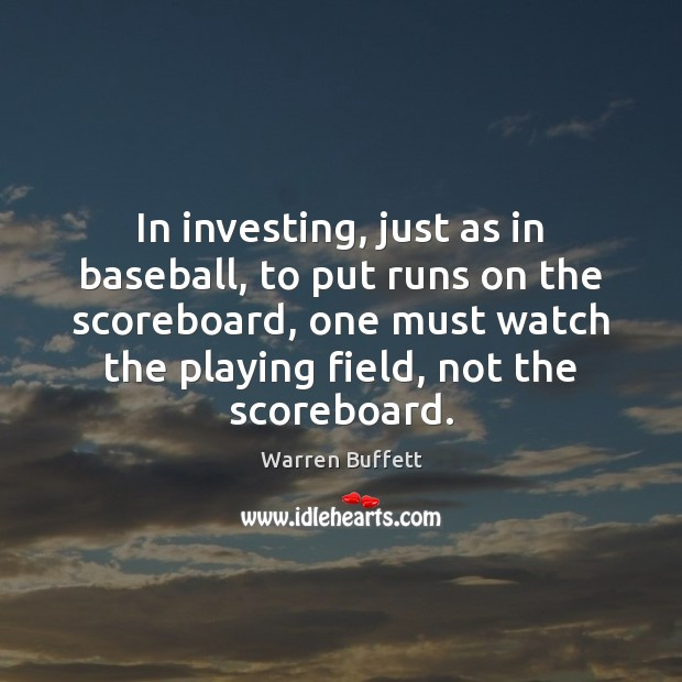 Image, In investing, just as in baseball, to put runs on the scoreboard,