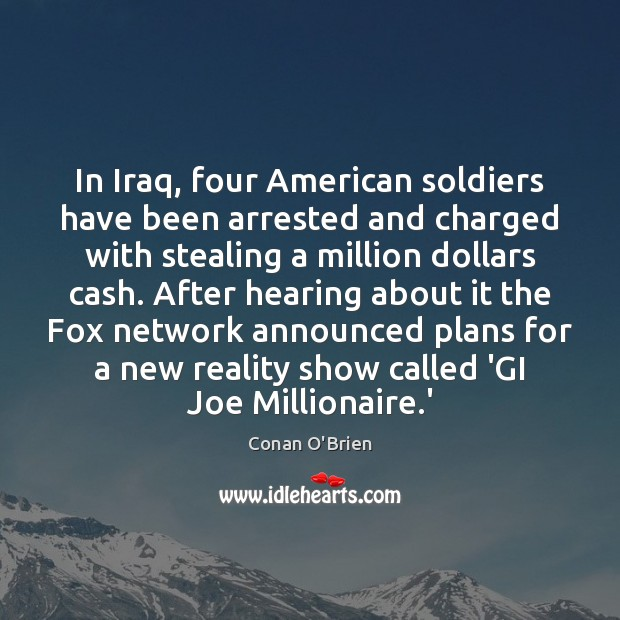Image, In Iraq, four American soldiers have been arrested and charged with stealing
