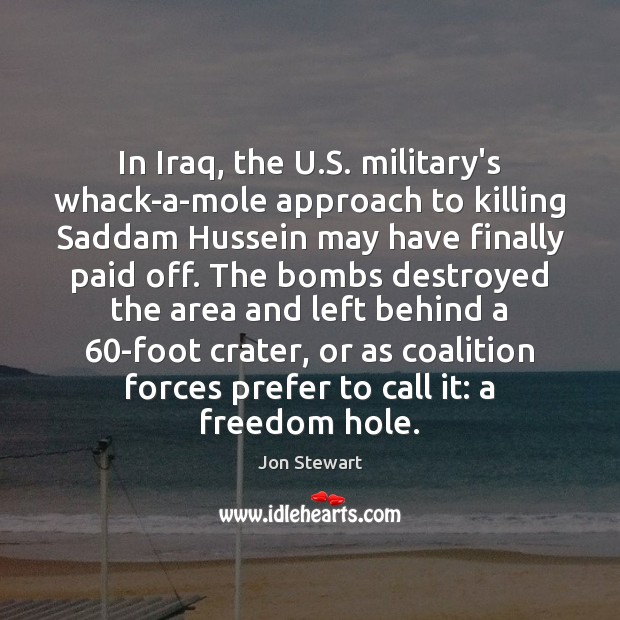 Image, In Iraq, the U.S. military's whack-a-mole approach to killing Saddam Hussein