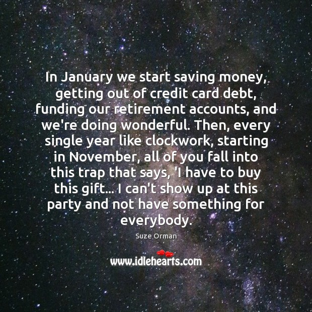 In January we start saving money, getting out of credit card debt, Image