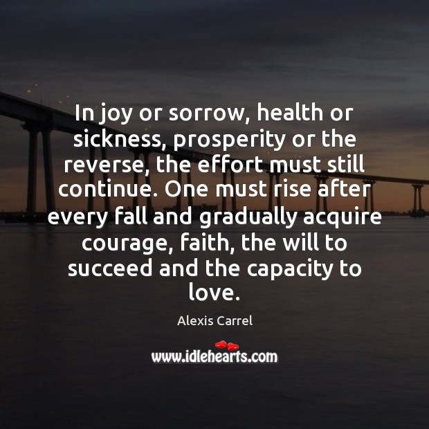 Image, In joy or sorrow, health or sickness, prosperity or the reverse, the