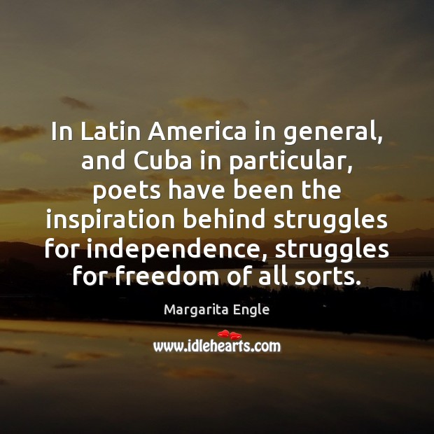 In Latin America in general, and Cuba in particular, poets have been Image
