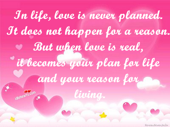 In Life, Love Is Never Planned.