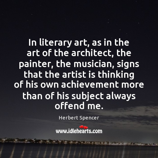 In literary art, as in the art of the architect, the painter, Image