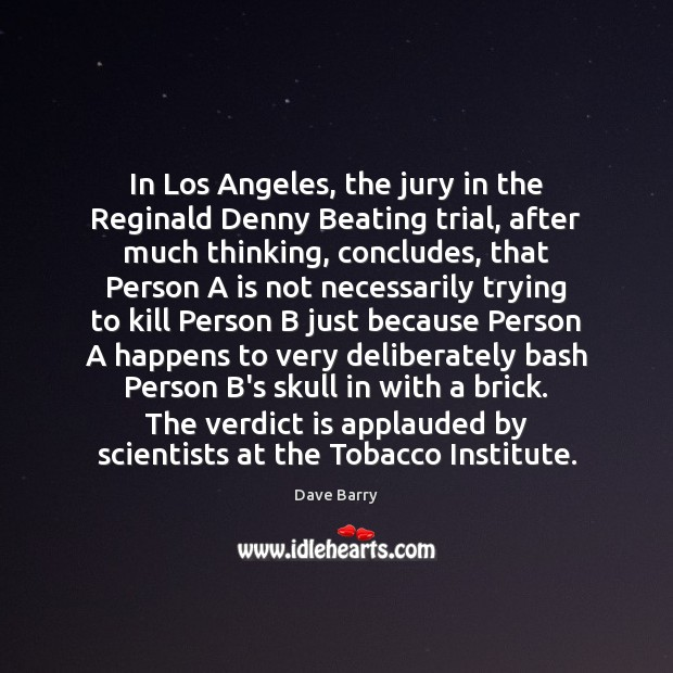 Image, In Los Angeles, the jury in the Reginald Denny Beating trial, after