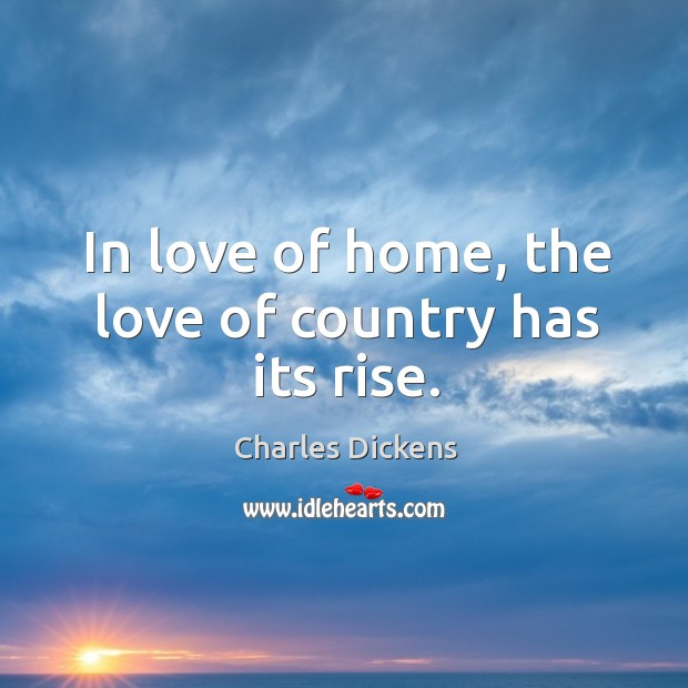 Image, In love of home, the love of country has its rise.