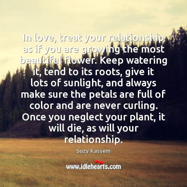 Image, In love, treat your relationship as if you are growing the most
