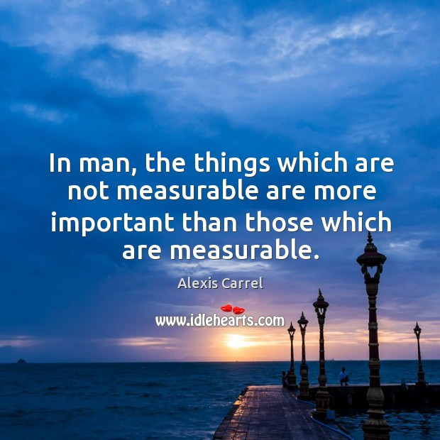 In man, the things which are not measurable are more important than Image