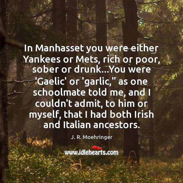 In Manhasset you were either Yankees or Mets, rich or poor, sober Image