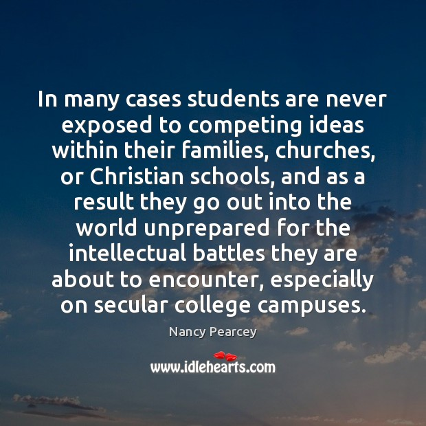 Image, In many cases students are never exposed to competing ideas within their