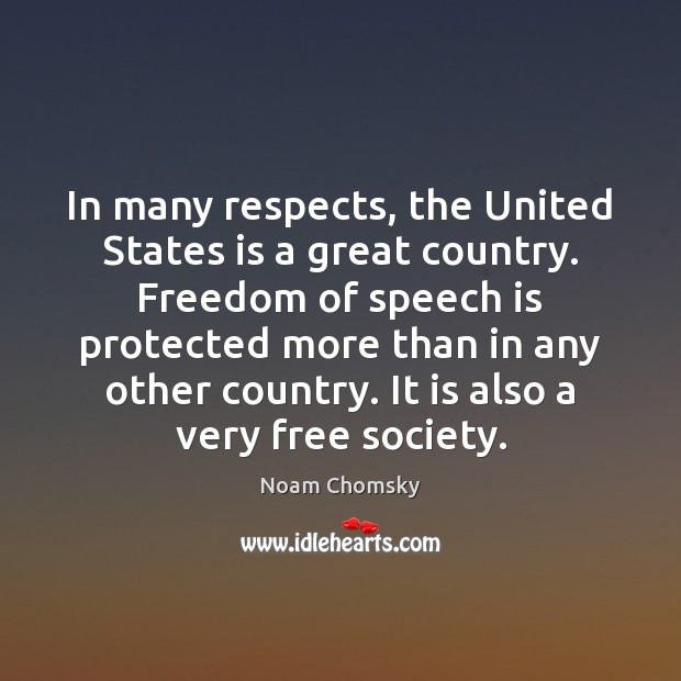 Image, In many respects, the United States is a great country. Freedom of