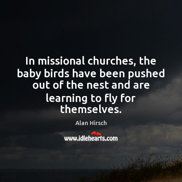In missional churches, the baby birds have been pushed out of the Image
