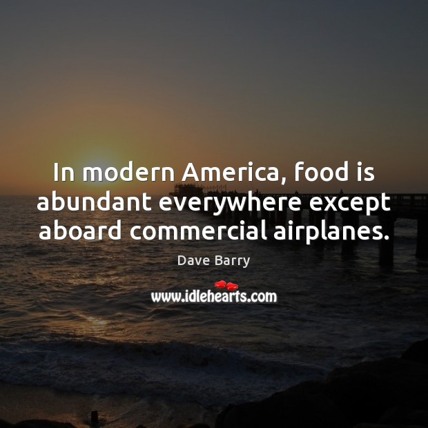 Image, In modern America, food is abundant everywhere except aboard commercial airplanes.