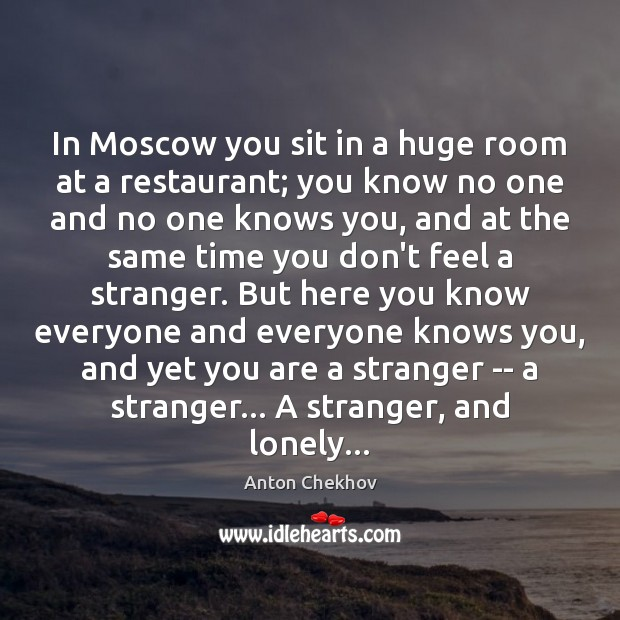 Image, In Moscow you sit in a huge room at a restaurant; you