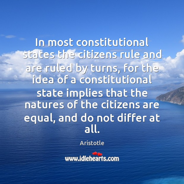 Image, In most constitutional states the citizens rule and are ruled by turns,