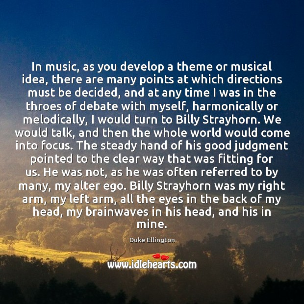 Image, In music, as you develop a theme or musical idea, there are
