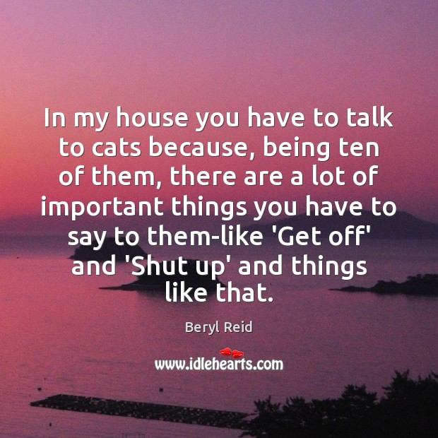 Image, In my house you have to talk to cats because, being ten