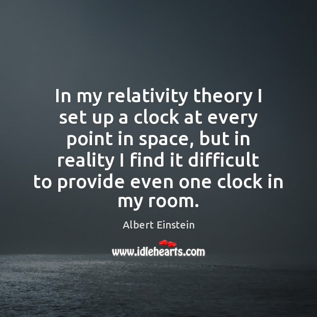 Image, In my relativity theory I set up a clock at every point